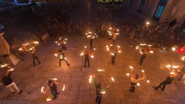 [VIDEO] Fire Hoop Flashmob